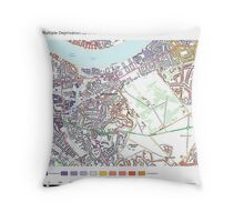 Multiple Deprivation Greenwich West ward, Greenwich Throw Pillow