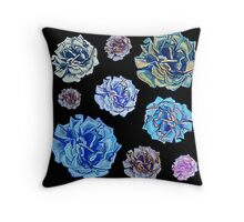 Cute black floral print Throw Pillow