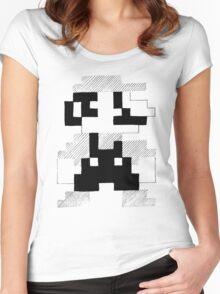 8 Bit Mario Women's Fitted Scoop T-Shirt