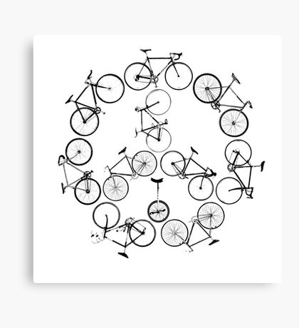The Peace Cycle by Decibel Clothing Canvas Print