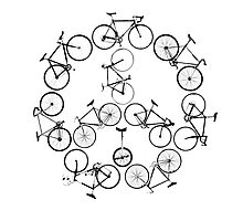 The Peace Cycle by Decibel Clothing Photographic Print