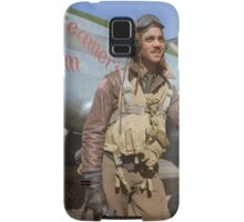 Edward C. Gleed Tuskegee airman — Colorized Samsung Galaxy Case/Skin
