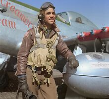 Edward C. Gleed Tuskegee airman — Colorized by Sanna Dullaway
