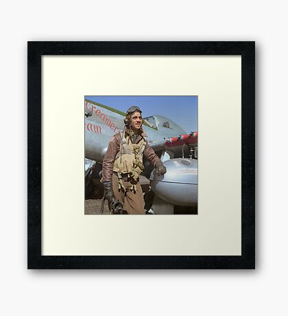 Edward C. Gleed Tuskegee airman — Colorized Framed Print