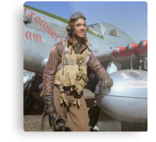 Edward C. Gleed Tuskegee airman — Colorized Metal Print