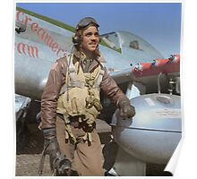 Edward C. Gleed Tuskegee airman — Colorized Poster