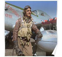 Edward C. Gleed Tuskegee airman — Colorized Poster