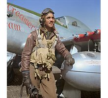 Edward C. Gleed Tuskegee airman — Colorized Photographic Print