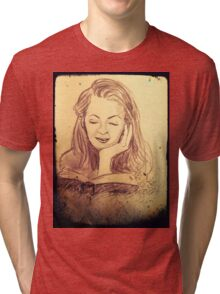 Alice reading in the afternoon  Tri-blend T-Shirt