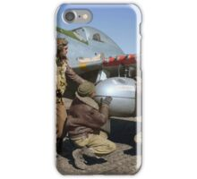 Edward C. Gleed and two other Tuskegee airman — Colorized  iPhone Case/Skin