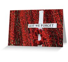 Warminster Town Hand-Knitted Poppies Greeting Card