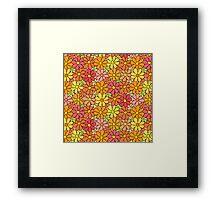 Intensive Colorful Flower Pattern Framed Print