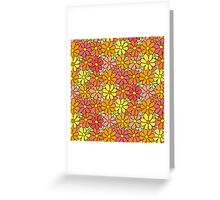Intensive Colorful Flower Pattern Greeting Card
