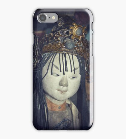 Traditional Wooden Chinese Doll iPhone Case/Skin