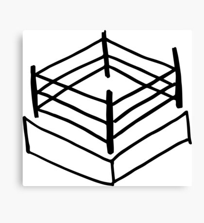 Wrestling RIng Canvas Print