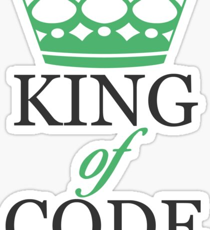King of Code - black Sticker