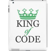 King of Code - black iPad Case/Skin