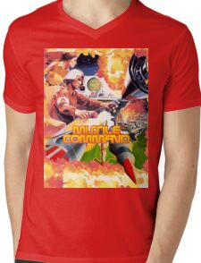 MISSILE COMMAND - ATARI 2600 LABEL CLASSIC Mens V-Neck T-Shirt