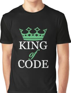 King of Code - white Graphic T-Shirt