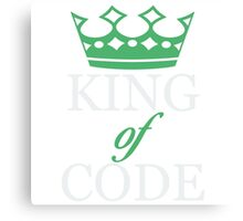 King of Code - white Canvas Print