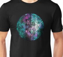 Sacred Geometry: Flower Of Life / Tree Of Life (Painted Cosmos II) Unisex T-Shirt
