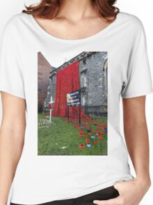 Warminster Town Hand-Knitted Poppies Women's Relaxed Fit T-Shirt