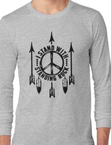 i stand with standing rock - water is life Long Sleeve T-Shirt