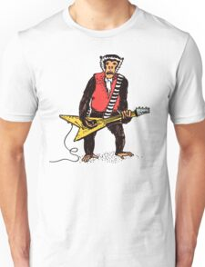 Rocker Monkey with Guitar Unisex T-Shirt