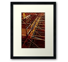 retro photo Framed Print
