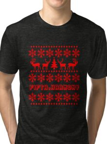 FIFTH HARMONY CHRISTMAS SWEATER KNITTED PATTERN Tri-blend T-Shirt
