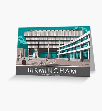 Birmingham Central Library Greeting Card
