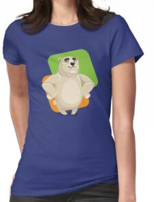 Majestic Polar Bear Standing  Womens Fitted T-Shirt