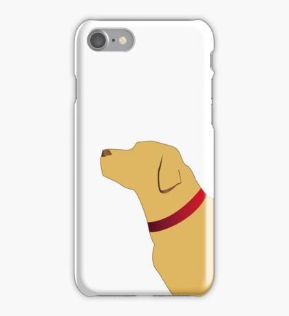 Golden labrador with red collar iPhone Case/Skin