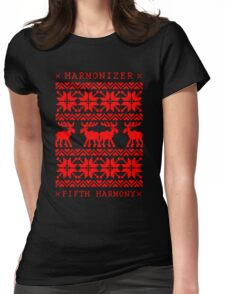 FIFTH HARMONY CHRISTMAS SWEATER KNITTED PATTERN Womens Fitted T-Shirt