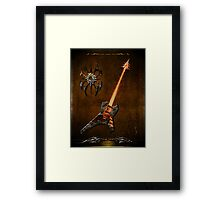 Black Metal Framed Print