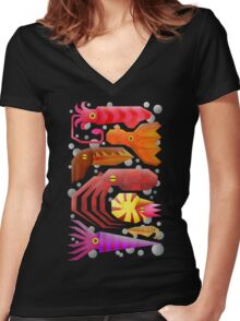 Cephalopods Women's Fitted V-Neck T-Shirt