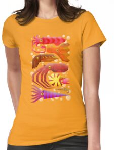 Cephalopods Womens Fitted T-Shirt