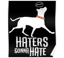 Haters Gonna Hate Pitbull Poster