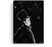 The Doctor in the Snow Canvas Print
