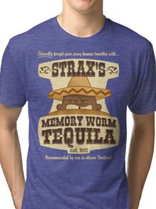Strax's Memory Worm Tequila Tri-blend T-Shirt