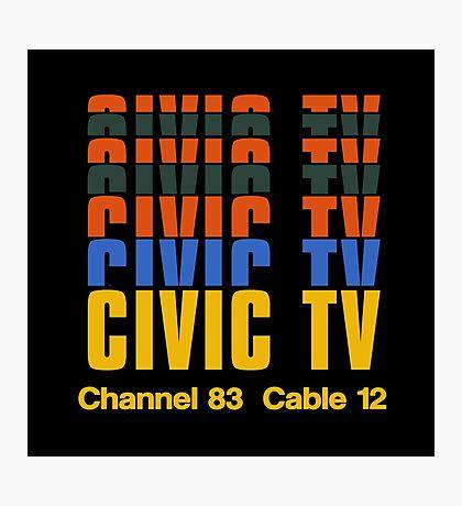CIVIC TV - VIDEODROME MOVIE Photographic Print