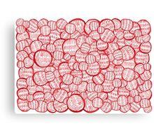Pepperoni Christmas balls / Bolas de Navidad de pepperoni Canvas Print