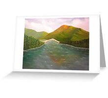 River Crown Greeting Card