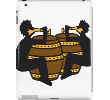 freunde team besaufen bierfass hahn oktoberfest bier saufen trinken alkohol fass bayern party feiern text shirt cool design  iPad Case/Skin