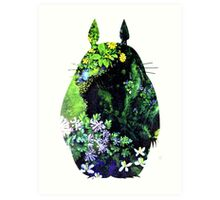 Totoro from Hayao Miyazaki - colorful Art Print