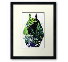 Totoro from Hayao Miyazaki - colorful Framed Print