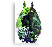 Totoro from Hayao Miyazaki - colorful Metal Print