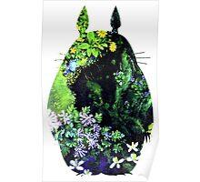 Totoro from Hayao Miyazaki - colorful Poster