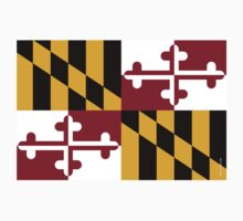Maryland State Flag Kids Clothes