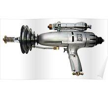 Silver Ray Gun Poster